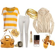 yellow, created by tinglesgirrl on Polyvore