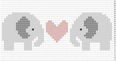 Billedresultat for elephant knit crochet cross stitch graphs Elephant Cross Stitch, Cross Stitch Baby, Cross Stitch Animals, Pixel Crochet, Crochet Cross, Crochet Chart, C2c Crochet, Knitting Charts, Knitting Stitches