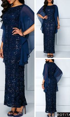 Navy Blue Lace Dress is enough to make any girl's heart race with excitement! The True to You Navy Blue Dress is loyally devoted to keeping you looking good! Long African Dresses, African Lace Styles, Latest African Fashion Dresses, African Print Dresses, Lace Dress Styles, Elegant Dresses, Dressy Dresses, Blue Lace, Navy Blue