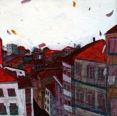 homes by Ece Zeber, via Behance