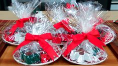 Cookie Cutter Brownies place on small holiday plates; leave brownie in cutter and wrap in cellophane;tie with festive bow.