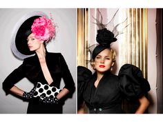 Royal wedding hats by Philip Treacy, die linker. Feathered Hairstyles, Hat Hairstyles, Asian Hair Ornaments, Kentucky Derby Fashion, Occasion Hats, Philip Treacy, Wedding Hats, Love Hat, Bridal Accessories