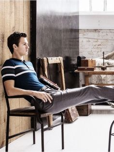 ansel elgort in town & country magazine