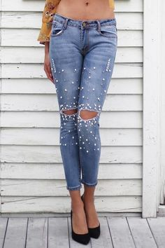Brand Name:SIMPLEE Material:Cotton Length:Full Length Wash:Light,Distressed Closure Type:Zipper Fly Waist Type:Low Decoration:Beading Fabric Type:Softener Fit Type:Skinny Jeans Style:Pencil Pants Style:Casual Model Gender:Women Item Type:Jeans Denim Jeans, Torn Jeans, Shoes With Jeans, Ripped Denim, Jeans Pants, Jeans Dress, Bling Jeans, Plus Size Ripped Jeans, Womens Ripped Jeans