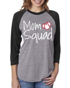 Mom Squad Baseball Raglan