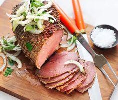 Tjälknöl på älg | Recept ICA.se Swedish Recipes, Man Food, Tuna, Risotto, Food And Drink, Beef, Fish, Cooking, God
