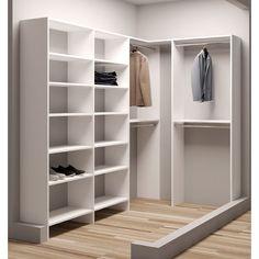 """TidySquares Inc, Demure Design 59.5""""W - 93""""W Closet System"""