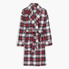J.Crew Gift Guide: women's Festive plaid flannel robe.