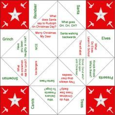 Christmas cootie games | Christmas Cootie Catcher/Fortune Teller (with Christmas jokes, instead ...
