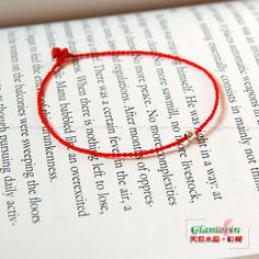 Red String Bracelet Chinese Knot kabbalahThin 925 by GlamorIn, $7.99