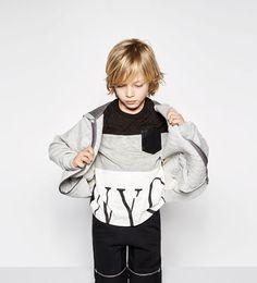 ZARA - KIDS - Quilted sweatshirt with hood