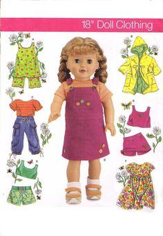 UNCUT 18 AMERICAN GIRL Doll Clothes Sewing by KeepsakesStudio