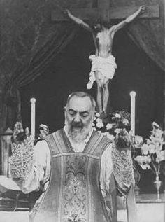Saint Pio (Pius) of Pietrelcina, O.F.M. Cap., (May 25, 1887 – September 23, 1968).    He was a Capuchin Catholic priest from Italy who is venerated as a saint in the Catholic Church. He was born Francesco Forgione, and given the name Pius (Italian: Pio) when he joined the Capuchins, thus he was popularly known as Padre Pio. He became famous for bearing the stigmata. On 16 June 2002, he was canonized by Pope John Paul II.