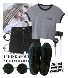 """CUTE AF"" by natsuko-yuuki on Polyvore featuring Original Penguin, Baron Von Fancy, RE/DONE and Converse"