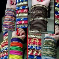 ✵☽♚ ✧ for more follow on INSTA @love_ushi OR PINTEREST @anamsiddiqui12294 ✧ ╳ ♡ Indian Accessories, Indian Jewelry Sets, India Jewelry, Jewelry Accessories, Silk Thread Bangles, Thread Jewellery, Beaded Necklace Patterns, Jewelry Patterns, Gypsy Jewelry