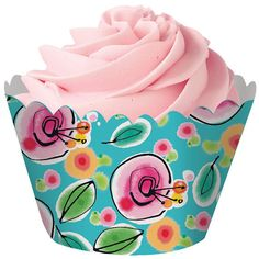Baby blue floral cupcake wrapper holder, buffet table decor, bridal cupcakes, flower party cupcake w Paper Cupcake, Cupcake Party, Birthday Cupcakes, Bridal Cupcakes, Floral Cupcakes, Cupcake Supplies, Baking Supplies, Discount Party Supplies, Cake Decorating Supplies