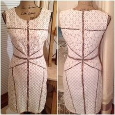 Gorgeous Lace Must Have by BCBG Maxazria This gorgeous lace dress is fully lined, has a rounded neck, fitted waist, a side zip and is in excellent like new condition. Details to follow. BCBGMaxAzria Dresses