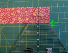 How to Use a 60-degree Quilting Ruler - Tutorial