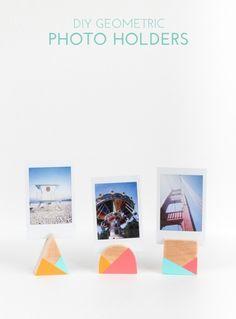 DIY Geometric Photo Holders