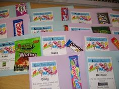 Candy Awards for the end of the year. You fit each student with a type of candy based on their personality.
