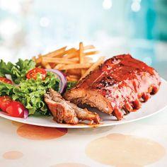 Côtes levées au parfum de barbecue Steak, Sauce Barbecue, Horde, Artichoke, Garlic, Vegetable Dips, Fingers, Fragrance, Food