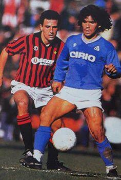AC Milan 2 Napoli 1 (3-3 agg) in Jan 1994 at the San Siro. Diego Maradona looks to revive Napoli in Serie A.