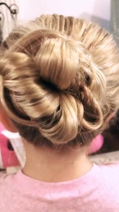 Bun Hairstyles For Long Hair, Baby Girl Hairstyles, Office Hairstyles, Toddler Hairstyles, Anime Hairstyles, Stylish Hairstyles, Hairstyles Videos, School Hairstyles, Hair Updo