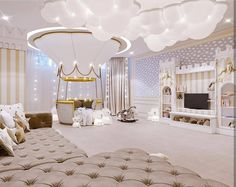 Check Circu Magical Furniture for more ideas and inspirations on amazing and unique kids' bedroom furniture: CIRCU. Cute Bedroom Ideas, Cute Room Decor, Baby Room Decor, Bedroom Decor, Baby Room Design, Girl Bedroom Designs, Girls Bedroom, Luxury Kids Bedroom, Luxury Nursery