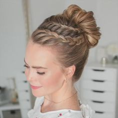 Easy Hairstyles For Long Hair, Up Hairstyles, Hairstyle Ideas, Church Hairstyles, Trending Hairstyles, Little Girl Hairstyles, Hairstyles For School, Summer Hairstyles, Hair Upstyles