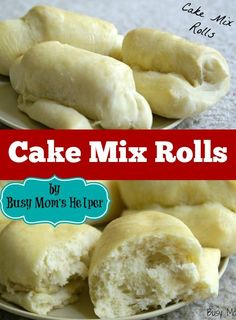 Cake Mix Rolls - Easy Home Baking Recipes - Box Cake Recipes, Easy Bread Recipes, Pudding Recipes, Gourmet Recipes, Baking Recipes, Casserole Recipes, Lasagna Recipes, Bean Recipes, Crockpot Recipes