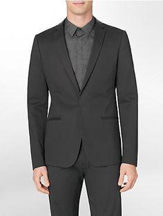 ultra slim fit cotton stretch sport jacket   Calvin Klein
