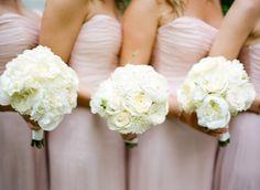 Blush bridesmaids. Love! :) Photographer by Melissa Schollaert Photography / msp-photography.com