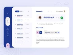 Dialer: Recents by Vladimir Gruev for Heartbeat Agency on Dribbble Web Design, App Ui Design, Mobile App Design, Interface Design, Flat Design, Design Layouts, 2020 Design, Mobile Ui, Creative Design