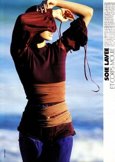Elle France April 16th, 1990  La Soie Lavee  Photographer: Hans Feurer  Stylist: Carine Roitfeld