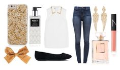 Gold Outfit by wayupinthestarz on Polyvore featuring Miu Miu, J Brand, Stephen Webster, NARS Cosmetics, Chanel, Nest Fragrances, women's clothing, women's fashion, women and female
