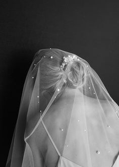 THEODORE pearl veil in chapel length 5