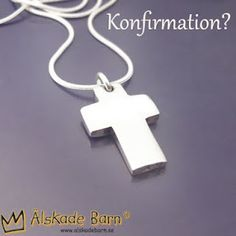 Konfirmationspresent! / Silvercross suitable for name, date or a few, well chosen words!