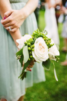 natural and effortless bouquet at rustic outdoor wedding in hudson valley photographed by Pat Furey | junebugweddings.com