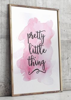 Pink nursery art Pretty little thing by TwoBrushesDesigns on Etsy
