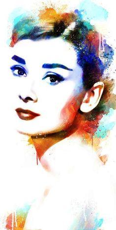 Audrey Hepburn Art Print by Michael Akers Audrey Hepburn Kunst, Audrey Hepburn Photos, Audrey Hepburn Style, Audrey Hepburn Painting, Audrey Hepburn Tattoo, Illustration Art, Illustrations, Arte Pop, Art Plastique