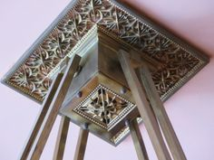 Historic Pleasant Home:  Detail of ceiling light fixture in library.