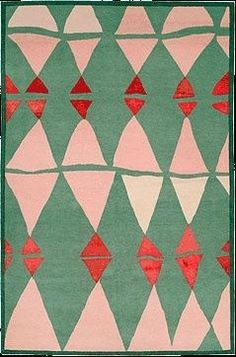 ♪ Triangle pink and green pattern design