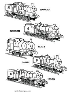 Thomas The Train Coloring Pages Picture 2