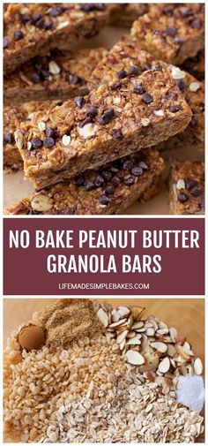 With Generous Amounts Of Old-Fashioned Rolled Oats, Crispy Cereal, Sliced Almonds, Cinnamon, Honey, And Peanut Butter, These Homemade Peanut Butter Granola Bars Are Not Only Delicious But Healthier Too!  #homemadepeanutbuttergranolabars #homemadegranolabars #peanutbuttergranolabars #healthygranolabars