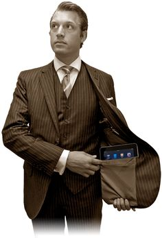 iPad Suit for men!? Mohans, New York. Do you really need this? :D