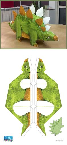 Metrolekeland Papercraft Dino by berov on DeviantArt Paper Dinosaur, Dinosaur Crafts, Dino Craft, 3d Paper, Paper Toys, Dino 3d, Projects For Kids, Crafts For Kids, Dinosaur Template