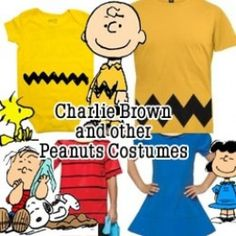 Dress up as Charlie Brown, Linus, Snoopy, Woodstock or Lucy from Peanuts, a comic book / animated masterpiece from Charles Schulz. Standing … Source by unseawgirl Charlie Brown Thanksgiving, Great Pumpkin Charlie Brown, Charlie Brown Christmas, Charlie Brown And Snoopy, Christmas Character Costumes, Book Character Costumes, Christmas Characters, Christmas Costumes, Halloween Costumes