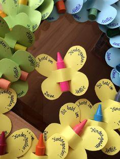 Butterflies Schmetterlinge mit wachsstiften als Einladung oder Abschiedsgeschenk für Kinder