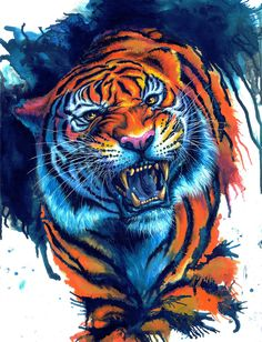 Tattoo Animal Tiger Pictures 67 Ideas For 2019 Tiger Artwork, Tiger Painting, Big Cats Art, Cat Art, Tiger Wallpaper, Tiger Drawing, Tiger Pictures, Pet Tiger, Lion Art