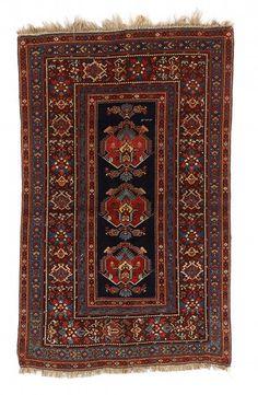 VAN-HAM Kunstauktionen  East Caucasus, Kuba.  Dated 1333 Hijra (1915 AD). 212 x 131 cm.